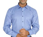 Devaa Men's Checkered Formal Shirt